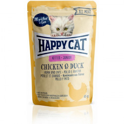 Happy Cat All Meat Kitten kura a kačica 85 g
