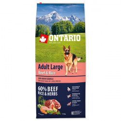 ONTARIO Adult Large Beef and Rice - 12kg