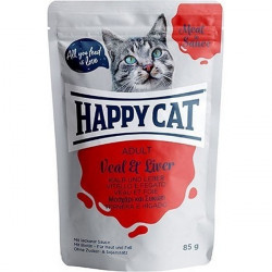 Happy Cat Meat in Sauce Adult teľa a pečeň 85 g