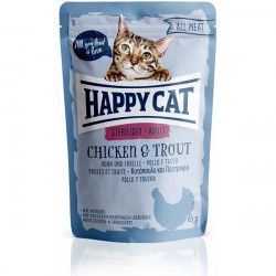 Happy Cat All Meat Sterilised kura a pstruh 85 g