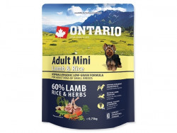 ONTARIO Adult Mini Lamb and Rice - 0,75kg