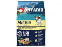 ONTARIO Adult Mini 7 Fish and Rice - 2,25kg