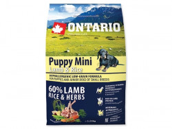 ONTARIO Puppy Mini Lamb and Rice - 2,25kg
